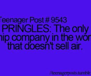 pringles, teenager post, and funny image