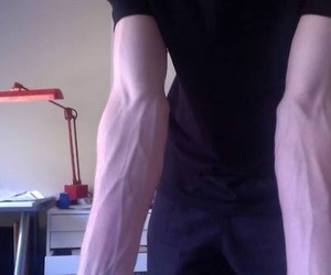 boy, pale, and veins image