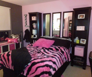 pink, bag, and bed room image