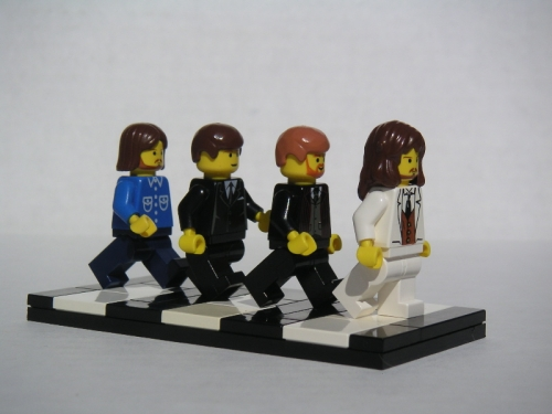 the beatles and lego image