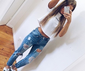 style, adidas, and jeans image