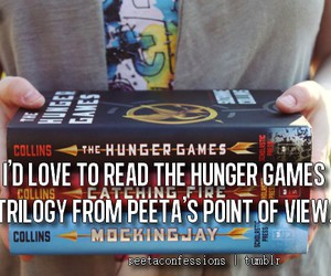 peeta, the hunger games, and mockingjay image