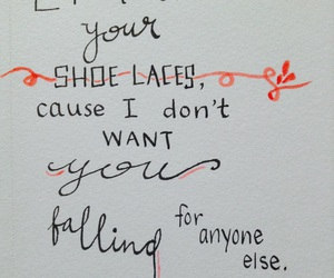 calligraphy, falling, and quote image