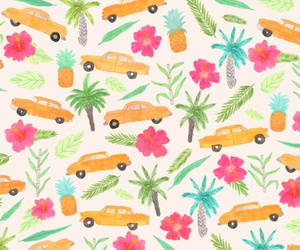car, palm, and pattern image