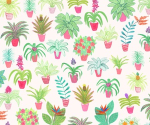 flowers, tropical, and pattern image