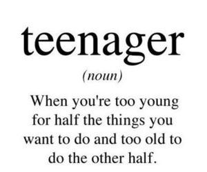 teenager and quote image