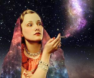 smoke, universe, and woman image