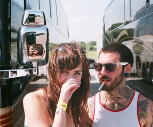 couple, girl, and tattoo image
