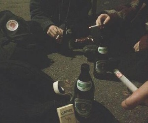 cigarette, grunge, and alcohol image