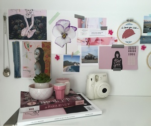 pale, pink, and bedroom image