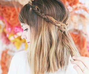 glitter, hair style, and pink image