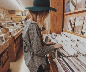 girl, music, and hipster image