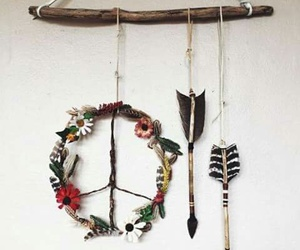 peace, hippie, and arrow image
