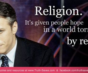 quote, religion, and jon stewart image