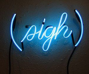 blue, light, and sigh image