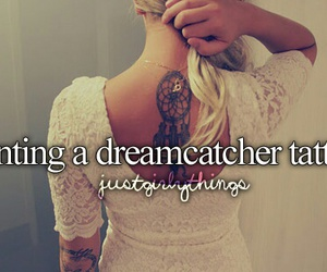 tattoo, dreamcatcher, and just girly things image