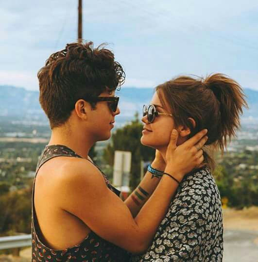 couple, love, and maia mitchell image