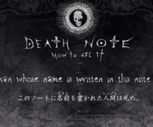 death note and anime image