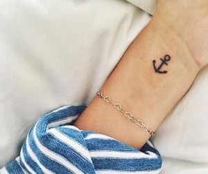tattoo, anchor, and wrist image