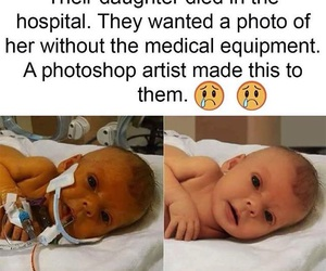 adorable, poor baby, and in image