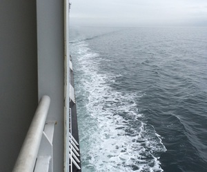 ferry, ocean, and water image