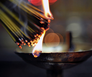 fire, photography, and incense image