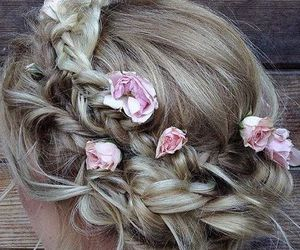 fashion, prom hair, and hair image