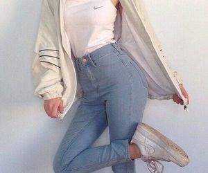 nike, jeans, and outfit image