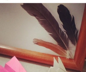 feathers, grulla, and vintage image