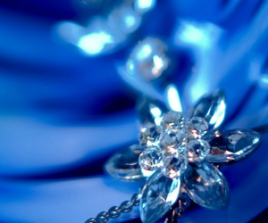 blue, flower, and jewel image