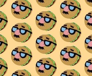 background, bob esponja, and hamburgers image