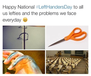 left handers day image
