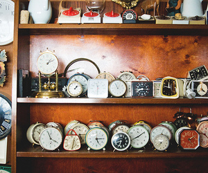vintage, clocks, and photography image