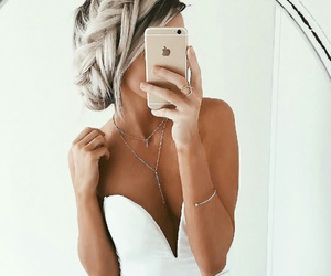 hair, iphone, and style image