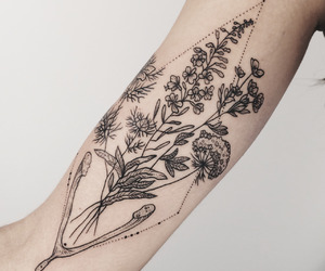 tattoo, flowers, and tumblr image