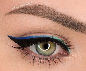 blue, eyeliner, and mascara image