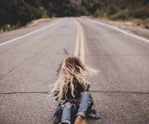 girl, photography, and road image