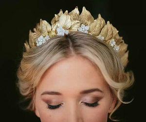 cosmetics, crown, and girl image