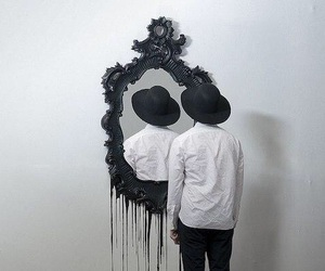boy and mirror image