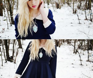 blond, dress, and cute image