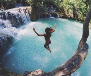 summer, water, and jump image
