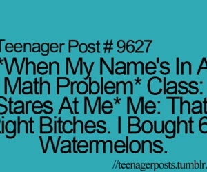 teenager post, funny, and math image