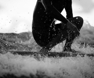 surfer, surfing, and ocean image