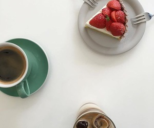 aesthetic, cake, and coffee image