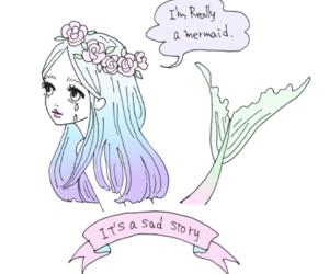 mermaid, art, and grunge image