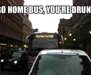 bus, drunk, and funny image