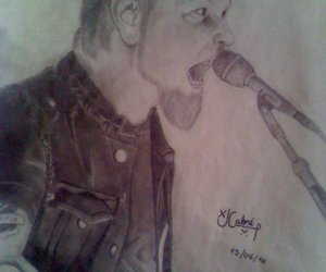 drawing, painting, and James Hetfield image