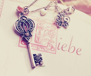key, love, and book image