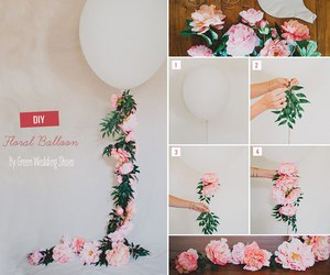 balloon, diy, and floral image