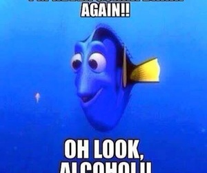 alcohol, funny, and nemo image